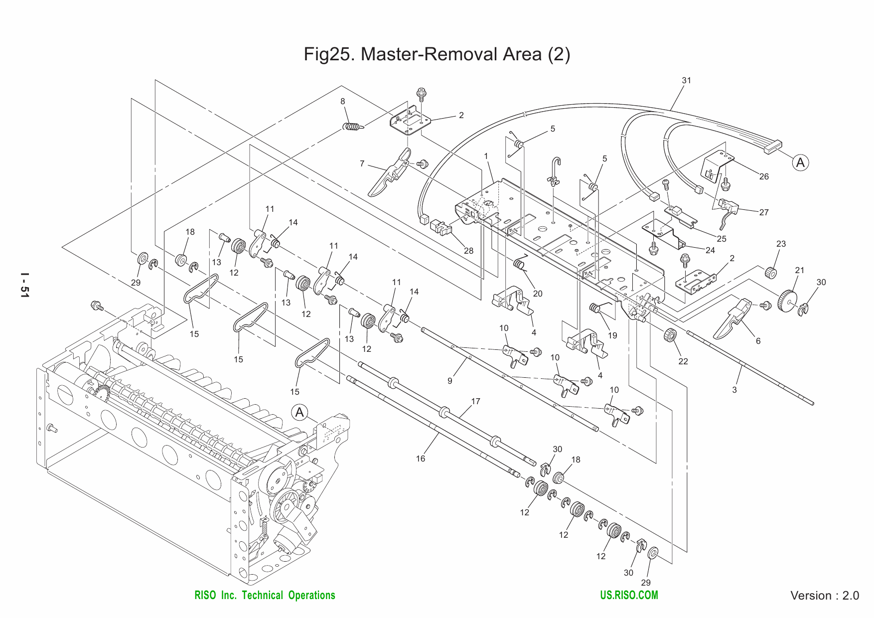 RISO RZ 200 220 230 Parts List Manual